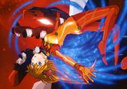 Asuka and Bardiel (Rebuild) Artwork