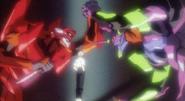 Kaworu with Eva 01 and 02 (NGE)