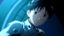 Shinji sonriendo a Rei (Rebuild 1.0).png