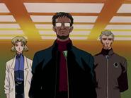 Episodio 5 Ritsuko Akagi Gendo Ikari y Kozo Fuyutsuki