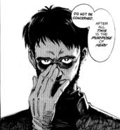 Gendo in the manga