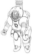 Evangelion Unit-02 D-Type Lineart