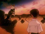 Episodio 24 Shinji conoce a Kaworu