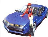 Renault Alpine Manga de Evangelion