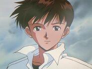 Episodio 4 Ikari Shinji meditabundo