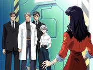 Misato Katsuragi frente a su padre