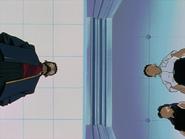 Shinji Ikari frente a su padre