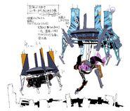 Evangelion Mark.04 Beam Carrier Concept Art Yamashita
