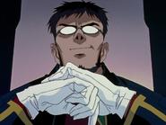 Sonrisa discreta de Gendo Ikari