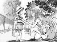 Niño Shinji junto a su madre