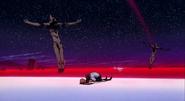 Shinji y Asuka en la escena final