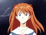 Asuka smiling