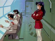 Misato en Vehículo de Comando