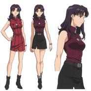 Misato Katsuragi NTE clothes