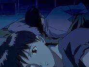 NGE 18 Shinji charla con Ryoji Kaji 01