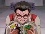Makoto Hyuga lee un manga en Magmadiver.png