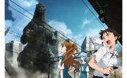 Godzilla arrives at Tokyo-3