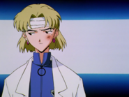Ritsuko es abofeteada por Misato