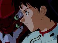 Shinji en el episodio 11