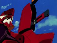 Eva 02 con Equipamiento B-type Cuchillo