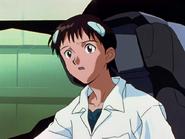 Shinji Ikari pilotando por primera vez 1