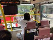 SE692在將退役巴士車頭展示無厘頭標語3