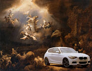 The Holy BMW 1 Series with Angels