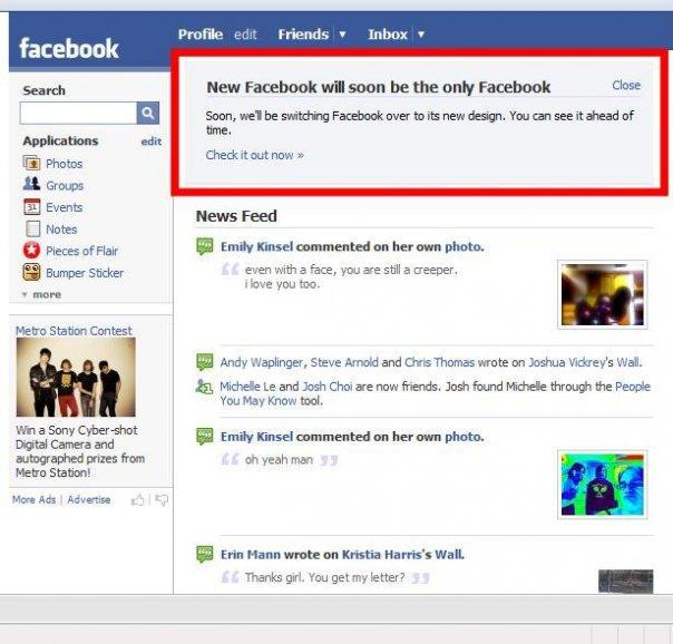 Facebook大事表 (2008年或以前)