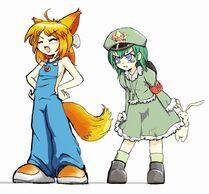 綠壩娘和 Firefox 娘