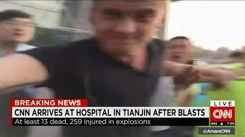 CNN Journalist Being Bitch Again in China Tianjin Accident