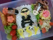Gangnam style lunchbox