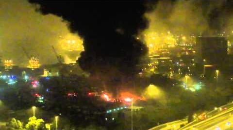 【車場大爆炸】長沙灣八號碼櫃碼頭於凌晨發生大爆炸2016 2 13
