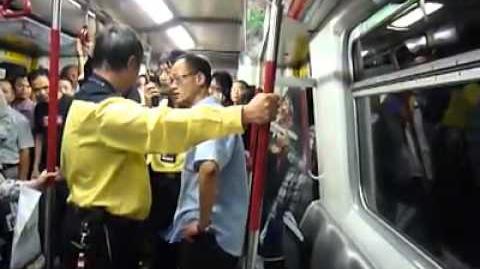 李小龍傳人「地鐵擊氣男」又發功,單挑港鐵三個職員,_俾你打一百下