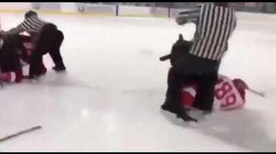 冰球港隊內地作賽領先遭圍毆 裁判被指袖手