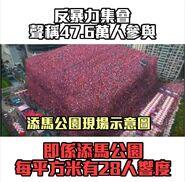 8月17日反暴力集會參與人數受質疑