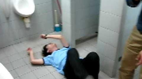 A Sammy Moving man who freaked out at Hong Kong toilet after missing his flush