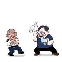 蕭若元利用「燈神」能力祝福光頭警長(CusonLo)