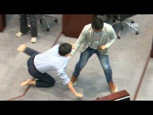20200508 立法會議員陳志全及郭偉強發生肢體衝突
