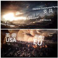 《逃犯條例》meme圖(復仇者聯盟:終局之戰英文版)