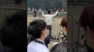 疑似TVB藝人與警員對峙