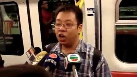 經典交通迷香檳男無厘頭回答記者問題 @ 九龍南線首班車-0