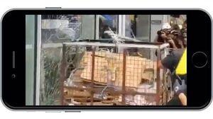抗议者用垃圾回收笼冲击立法会大楼,泛民派议员梁耀忠劝阻被拦腰带离(香港反《送中条例》特别报道之5 20190701)
