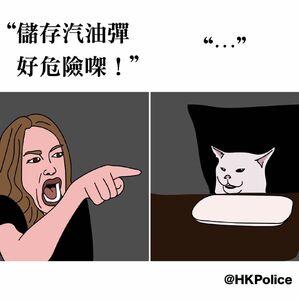 警方fb貼「女人鬧貓」
