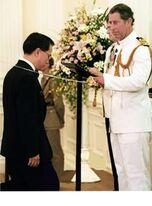 Sir Donald Tsang knighted