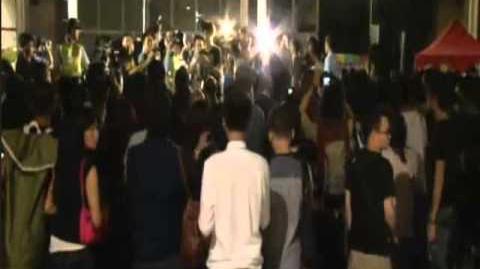 (精華版) HKTV 政總集會左膠被鬧及台上起衝突 2013-10-20
