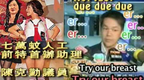 克勤 Try our breast X Reginababy, she bangs! (有字幕) http plastichk.blogspot