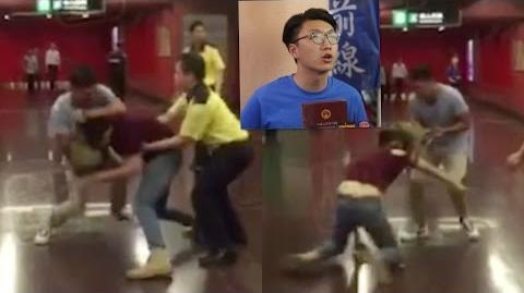 半夜獨家 梁天琦太古港鐵站打交 疑左報記者挑釁