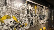 黃色火鍋店巨型畫像引起爭議