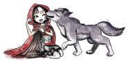 Melissa Yu book art - Cerise and Carmine