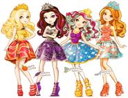 Apple, Raven, Maddie, Ashlyn FEA art